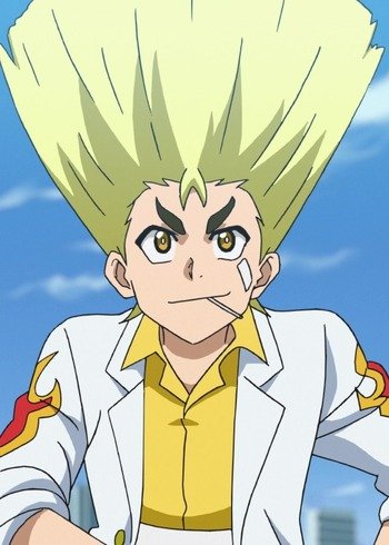 Anime male with blonde hair