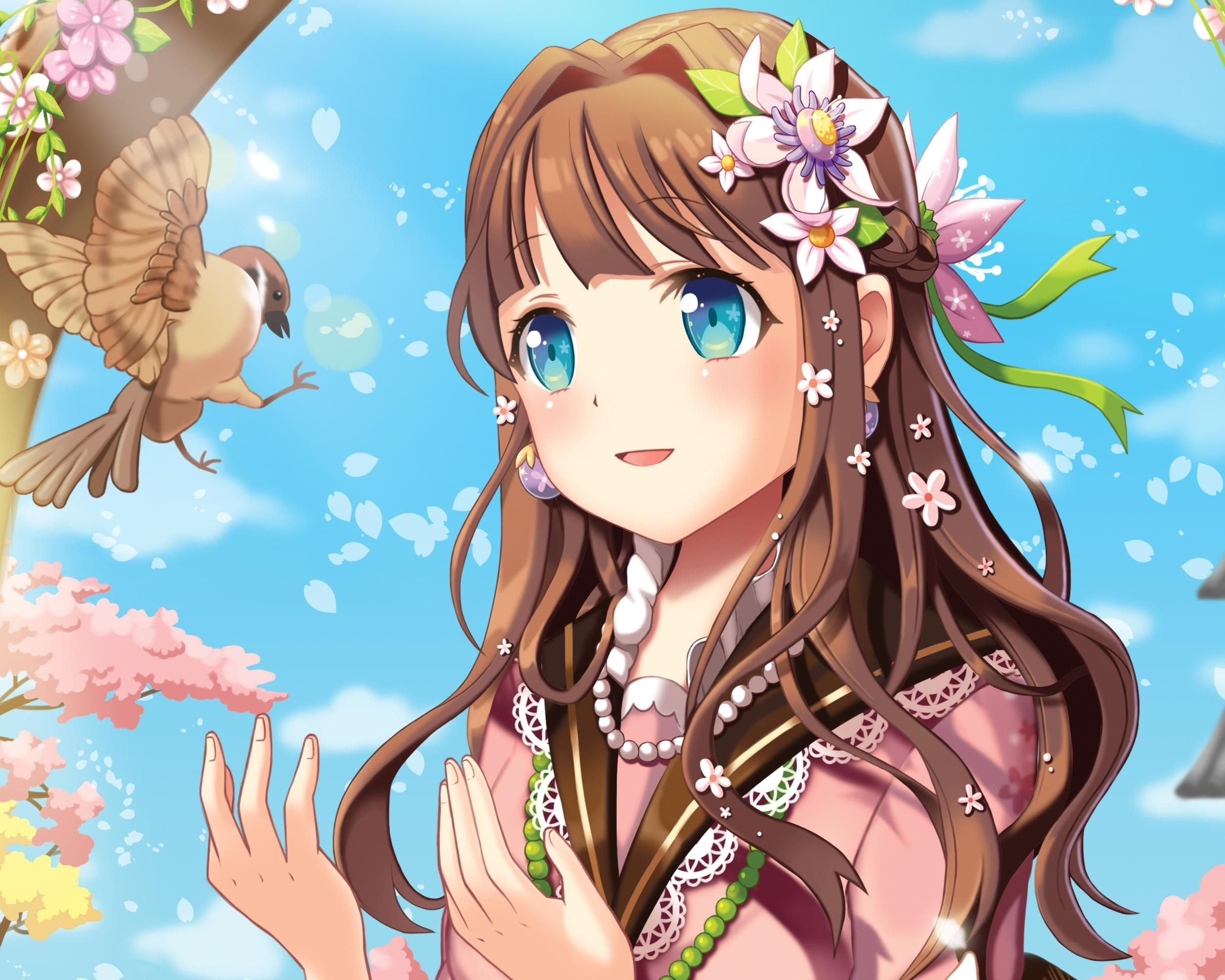 brown Brown eyed girl haired anime