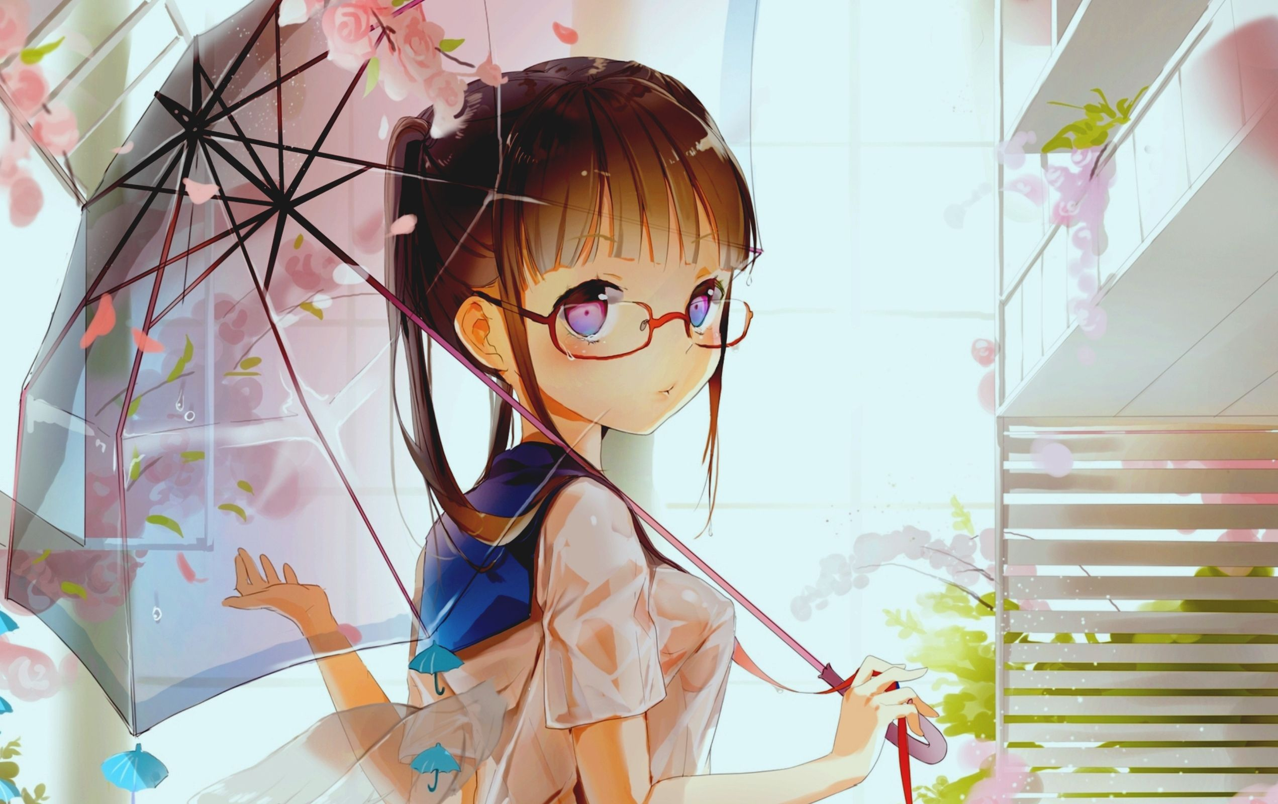anime glasses Cute girls with