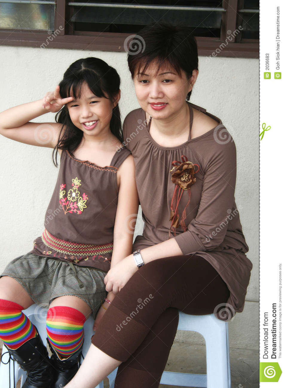 and Chinese mother girl daughter fuck