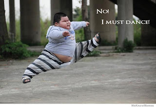 chinese dancing Fat baby