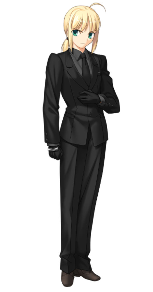 girl in suit Anime