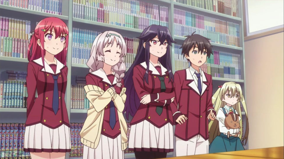 Anime with superpowers and school