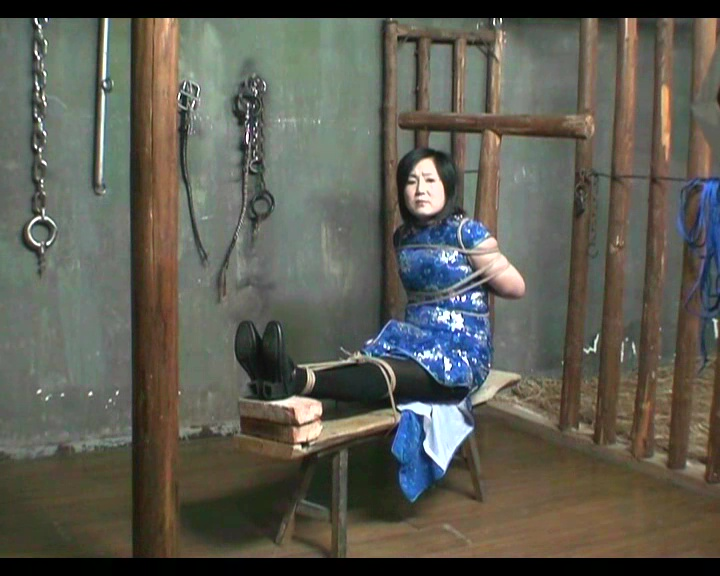 young Asian outdoor bondage