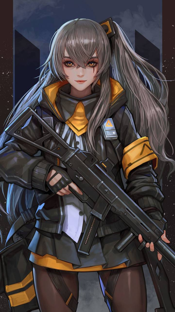 anime soldier Female