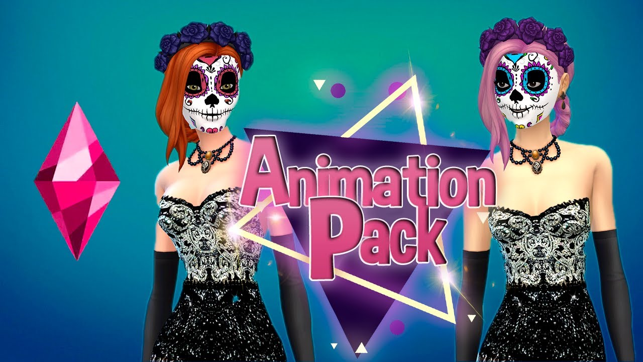 4 pack Sims anime