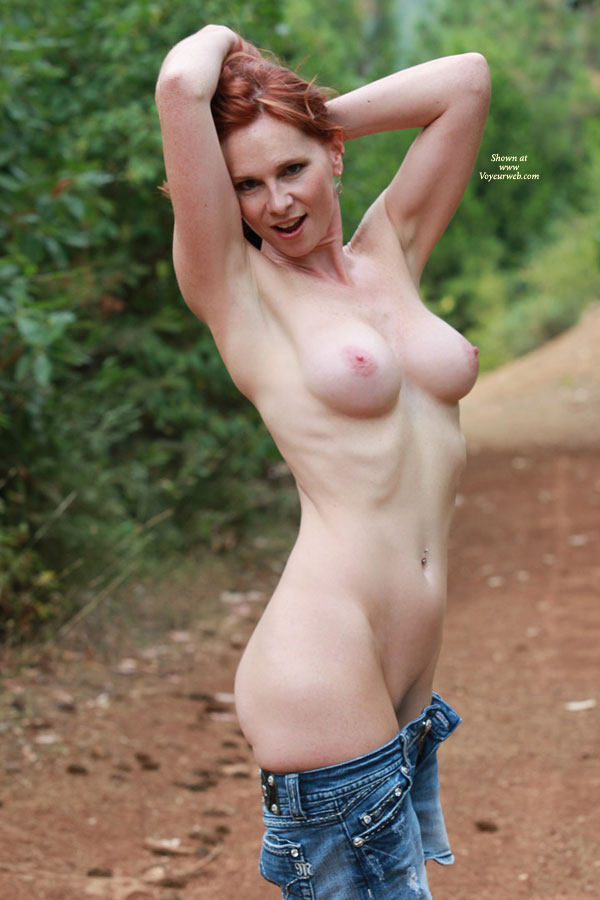 outdoor redhead asian Wife